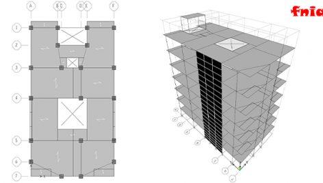 دانلود پروژه بتن 7 طبقه مسکونی (قاب خمشی و دیوار برشی)