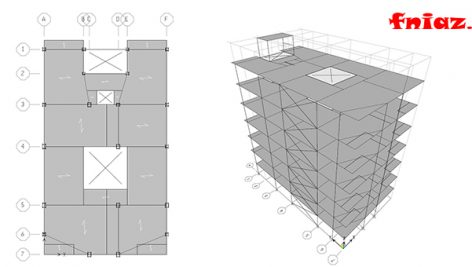 دانلود پروژه فولاد 7 طبقه مسکونی (قاب خمشی و مهاربند)