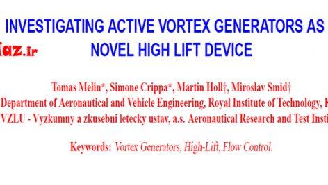 بررسی ژنراتورهای گردباد فعال (AVG) به عنوان یک وسیله پرواز مرتفع جدید